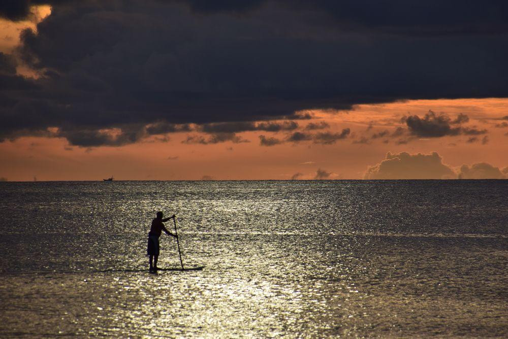 Paddle boarding in Guam
