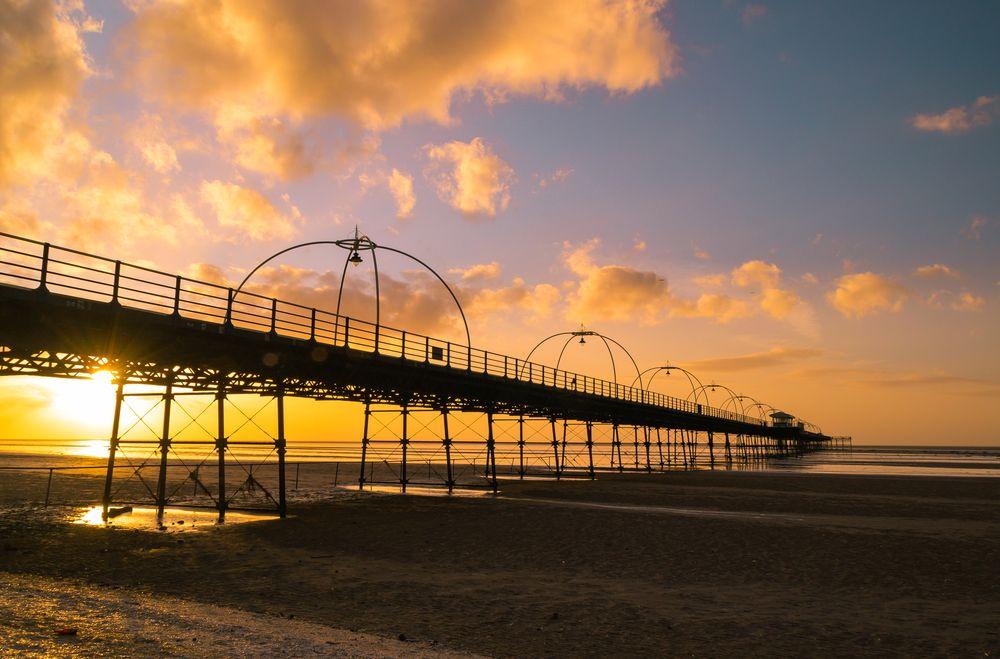 Sunset on Southport pier