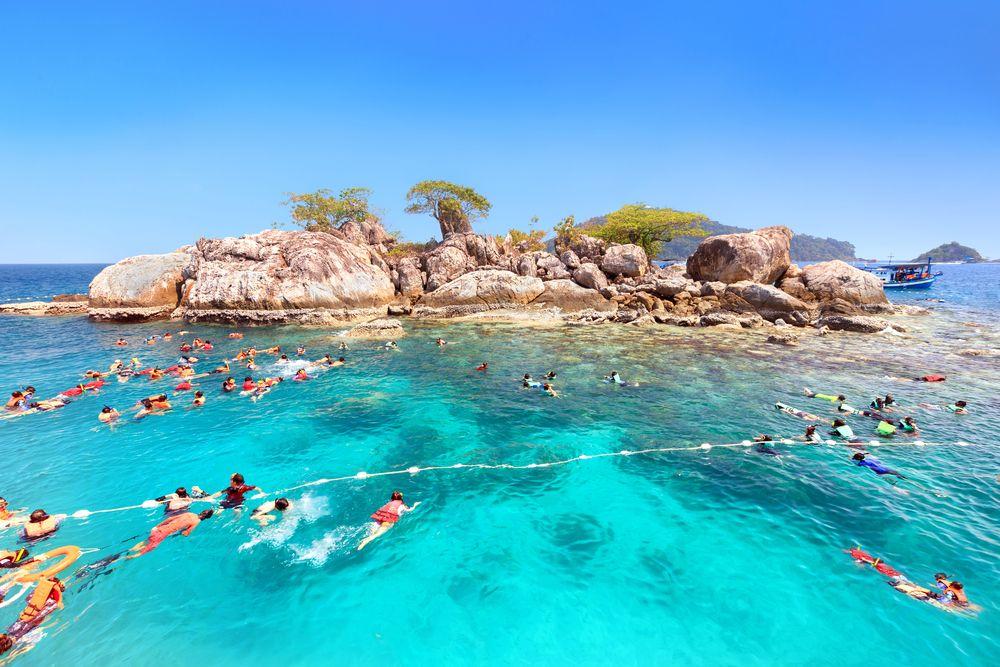 Tourists Snorkeling at Koh Yak Lek