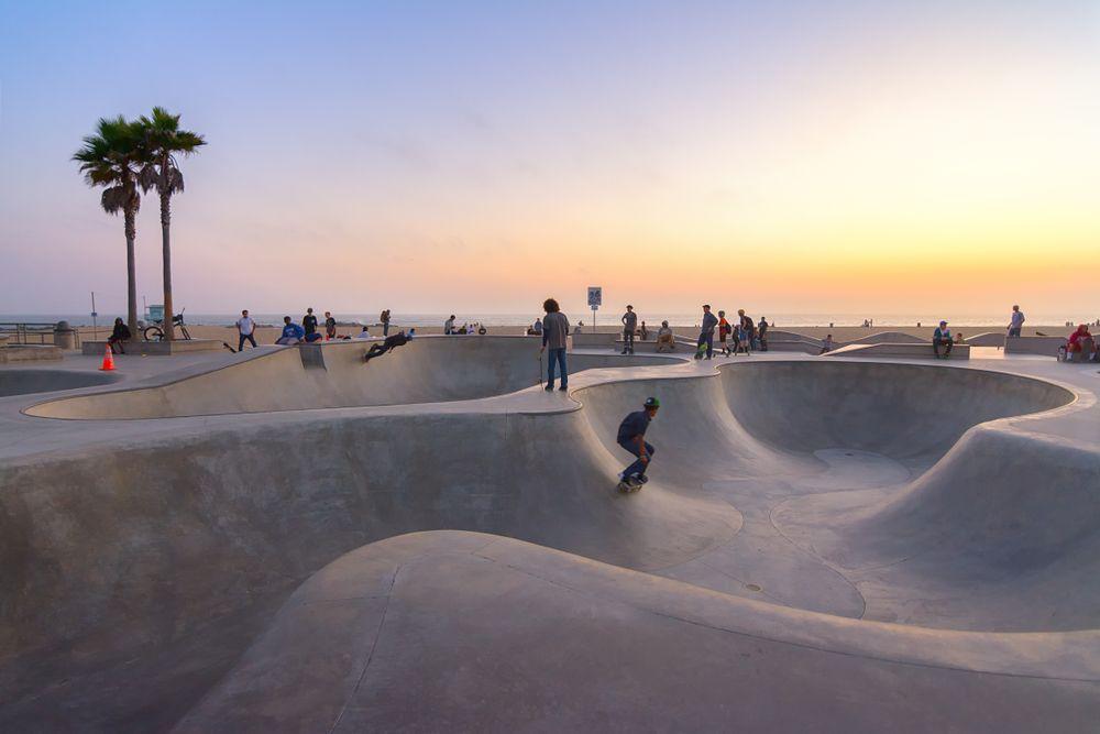 Venice Beach skateboarding park