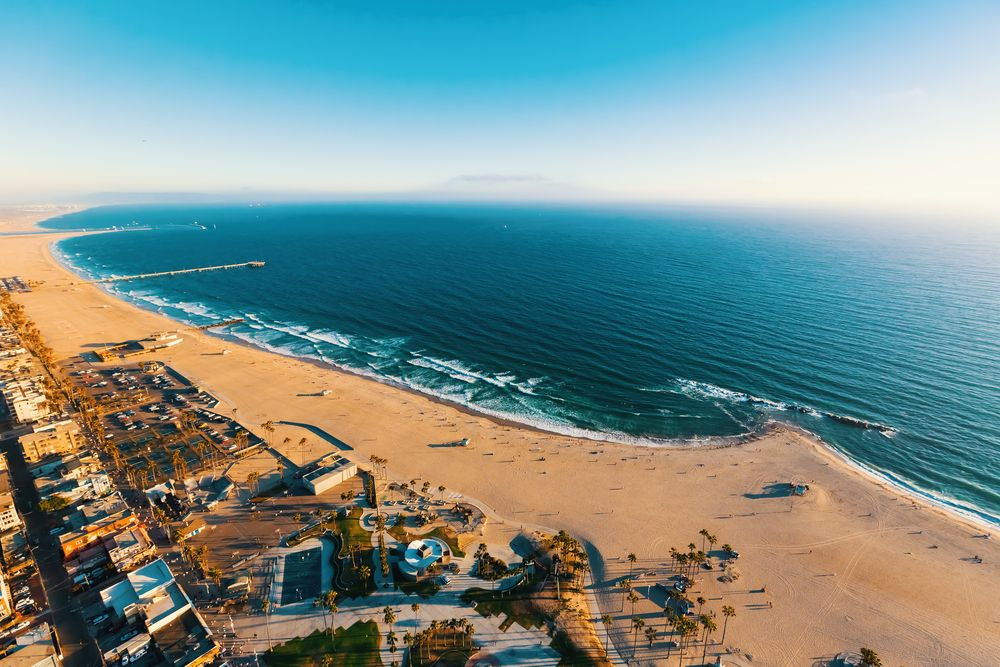 Venice Beach from above