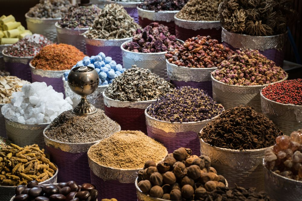 spices for sale in Ahu Dubai traditional market