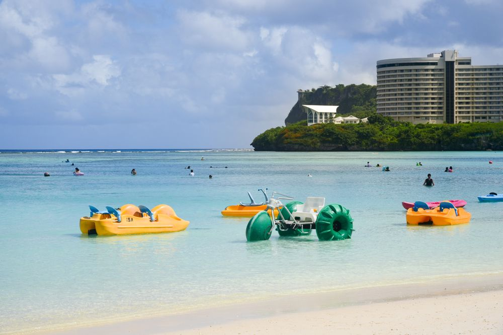 Boats, Kayaks, and various other activity in Tumon Beach, Guam