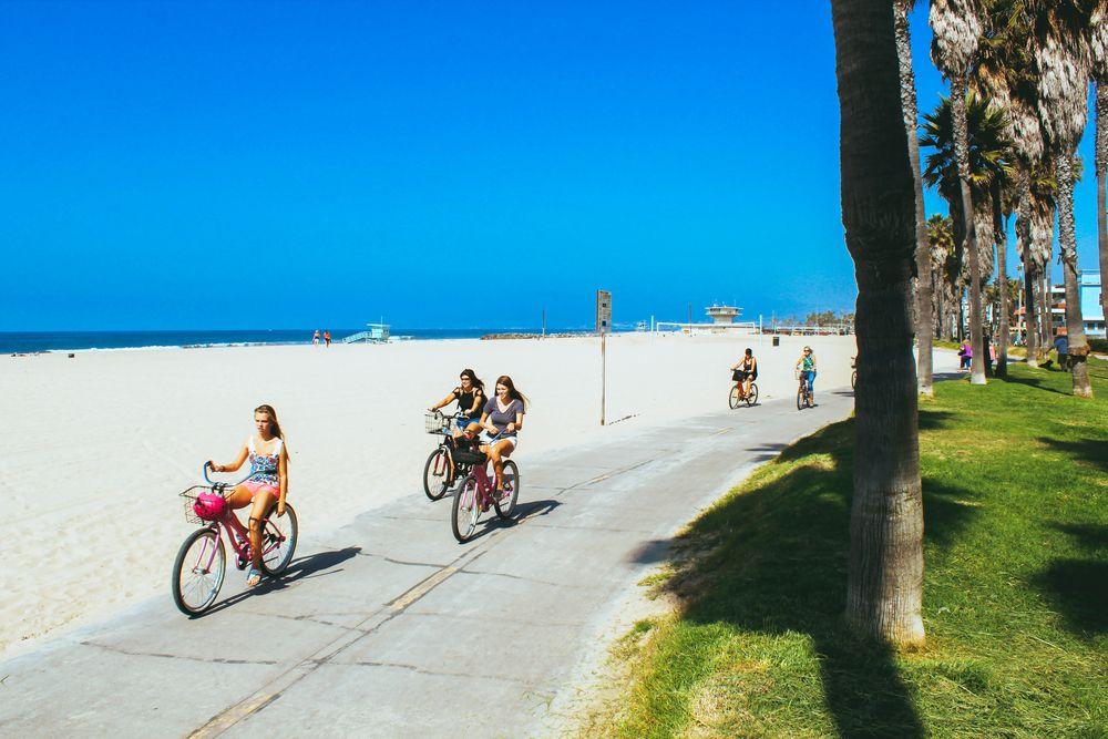 Cycling in Venice Beach