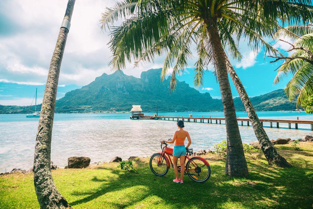 Bicycle Trail in Bora Bora