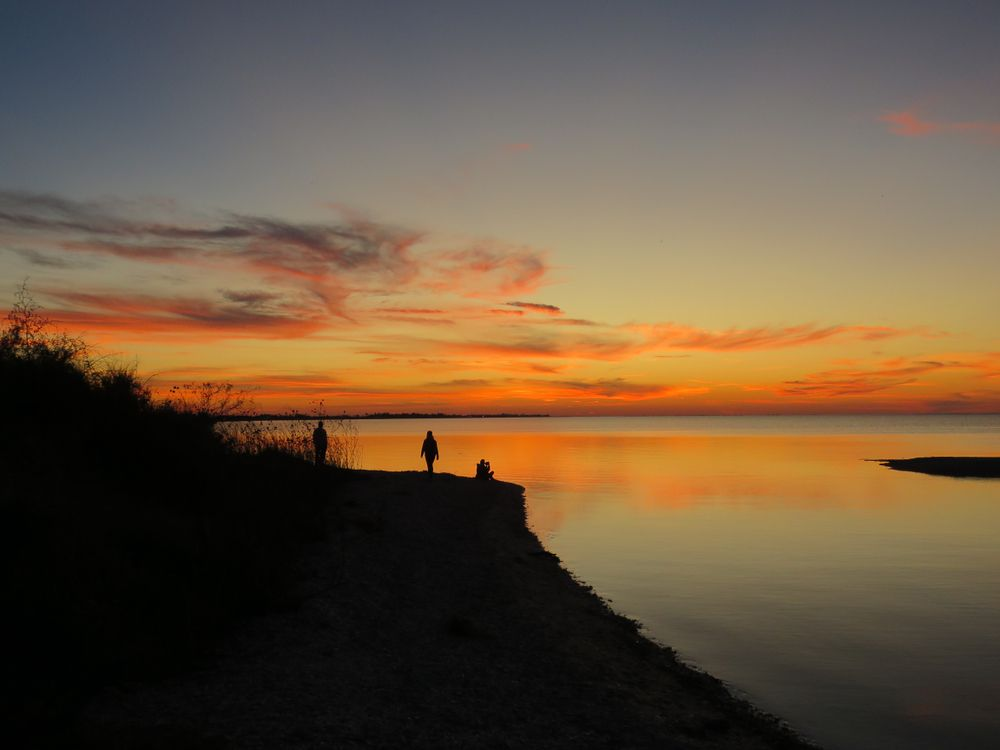 Sunset in Copano bay