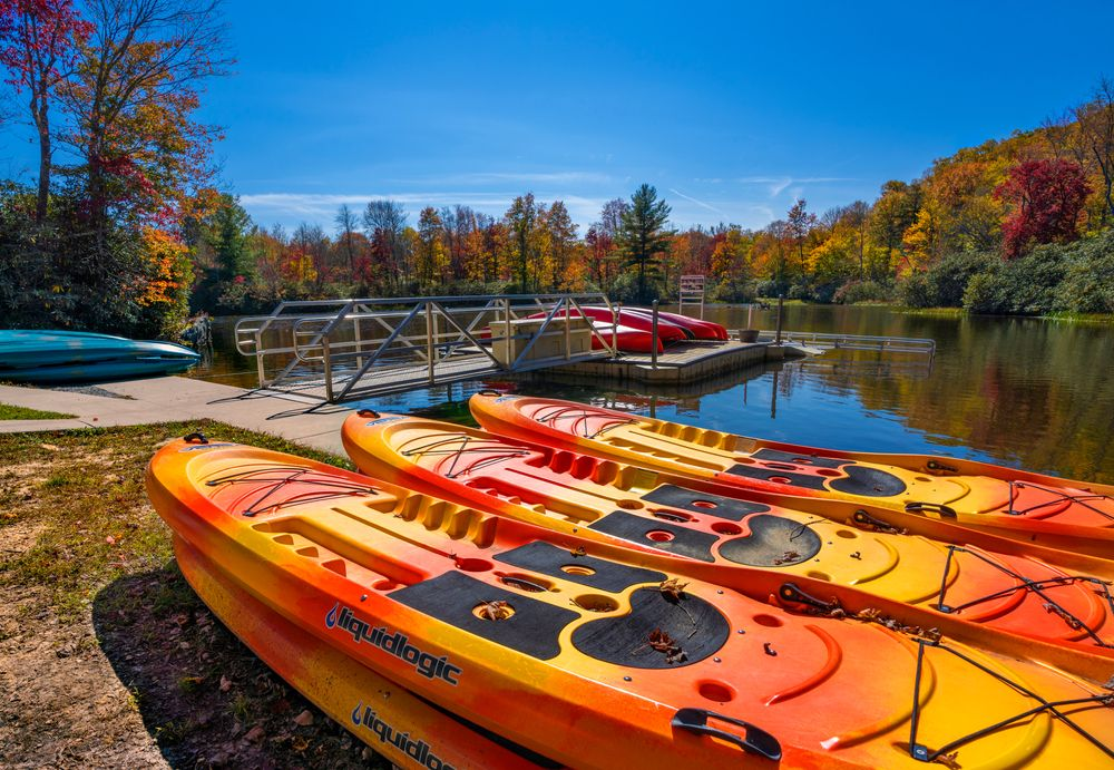Kayaks and Paddle boats in Julian Price Park