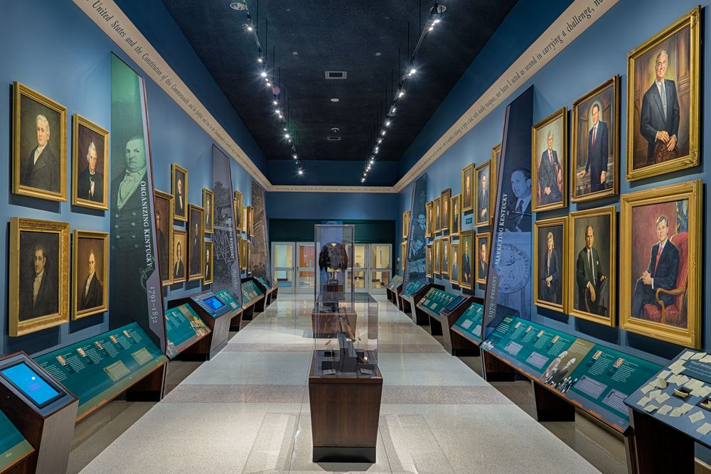 Hall of governor's in Kentucky history centre