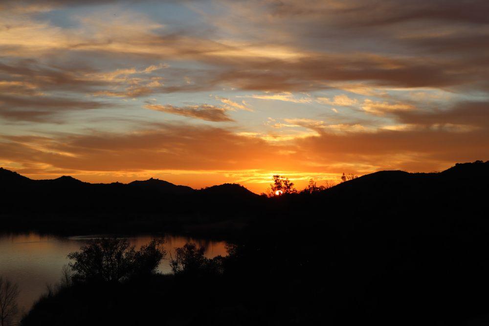 Lake Wohlford during sunset