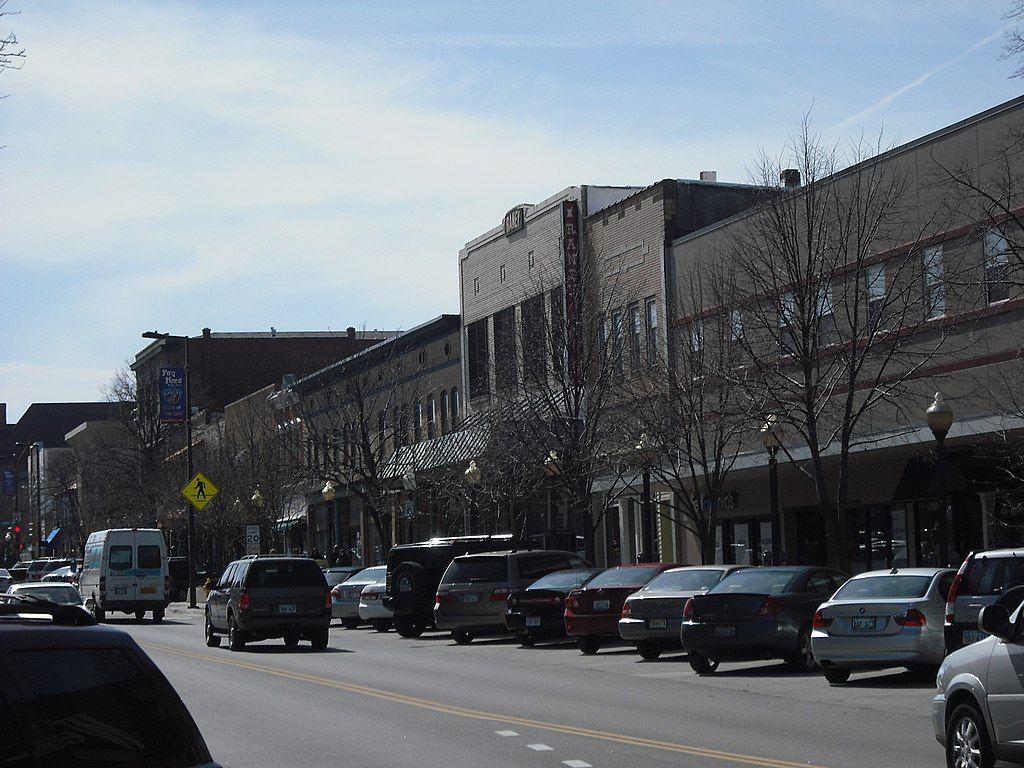 Massachusetts Street in Lawrence, Kansas