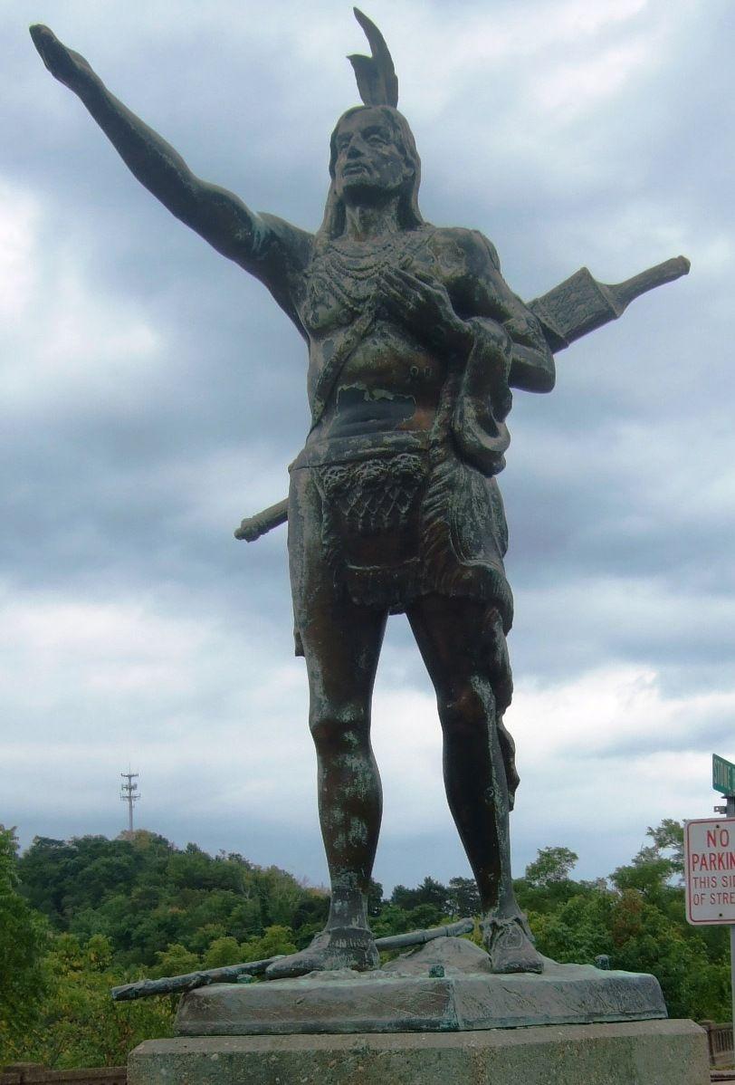 Mingo Native American Statue