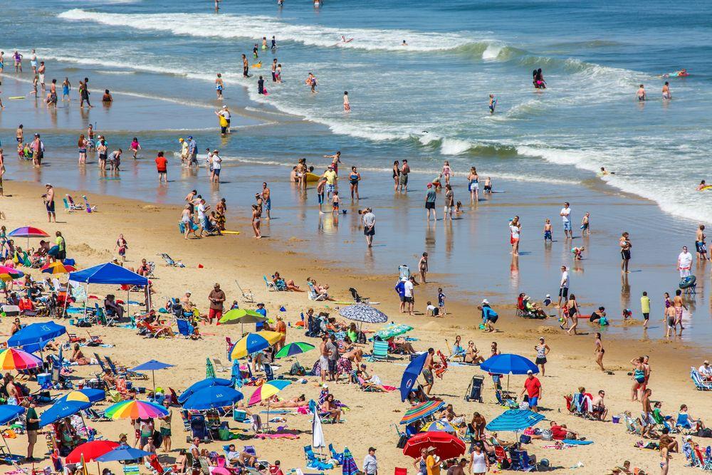 Tourist at Ocean City Beach