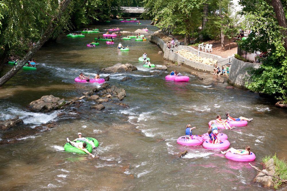 River tubing in Chattahoochee River