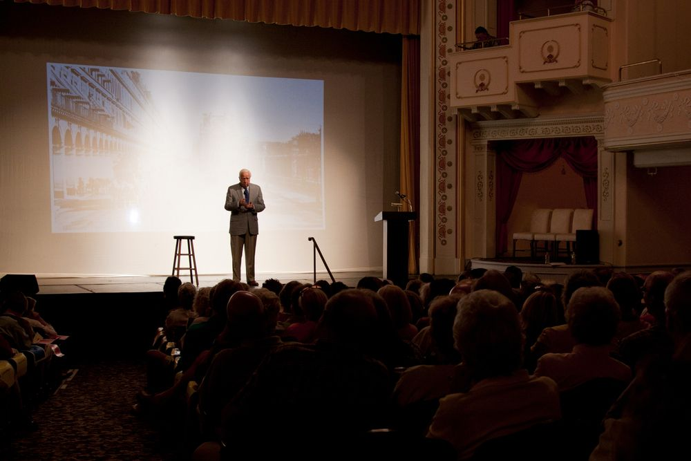 Pulitzer Prize winning author David McCullough at Camden Opera House