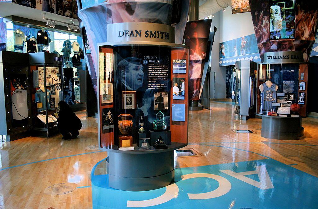 Display at Carolina Basketball Museum