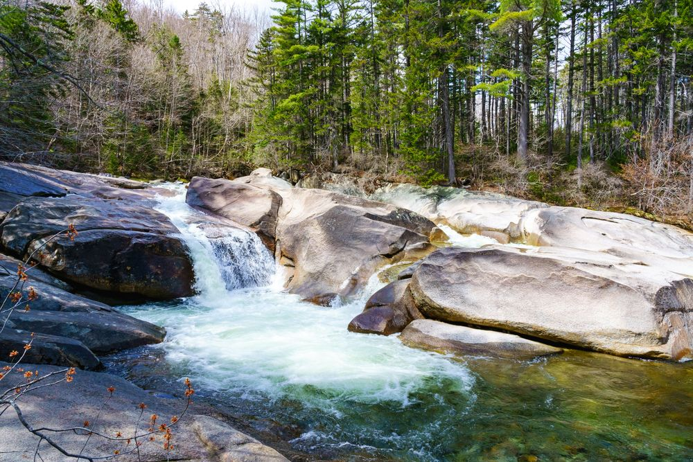 Water flowing from Franconia Falls