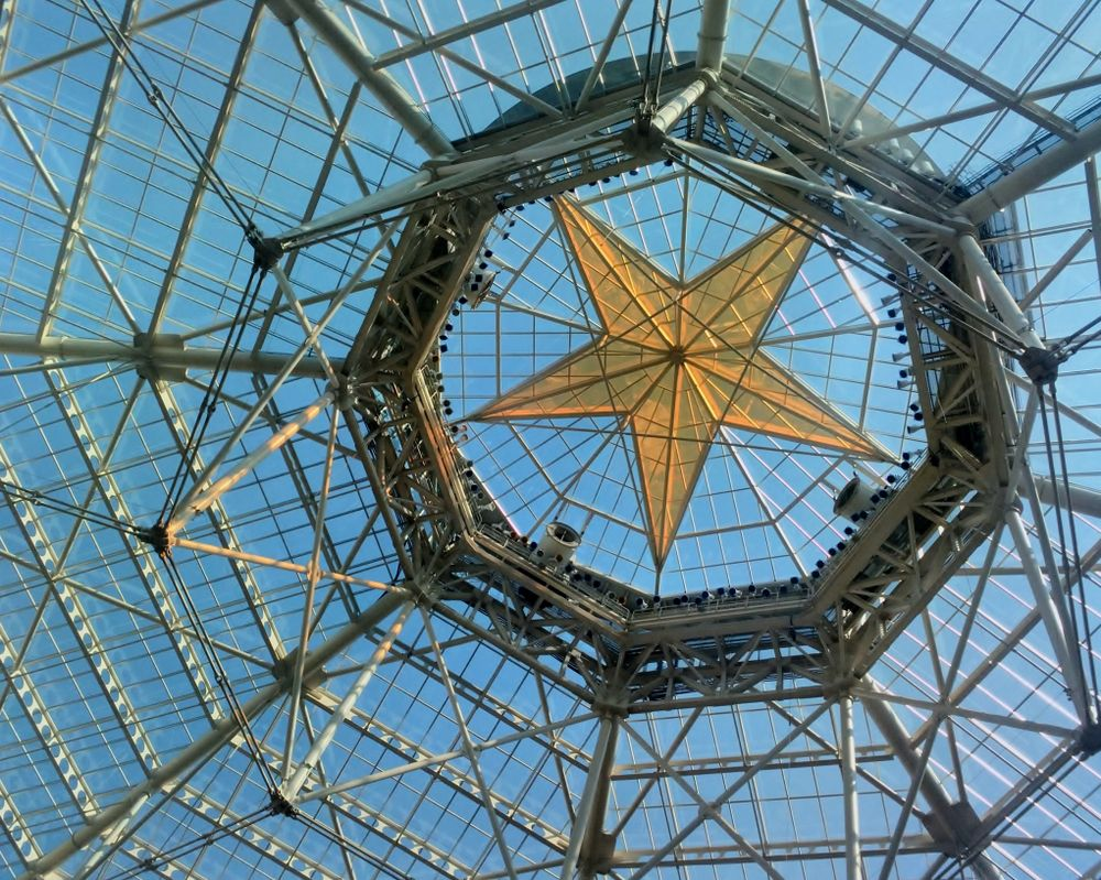 Famous glass star ceiling in Gaylord Texas Resort