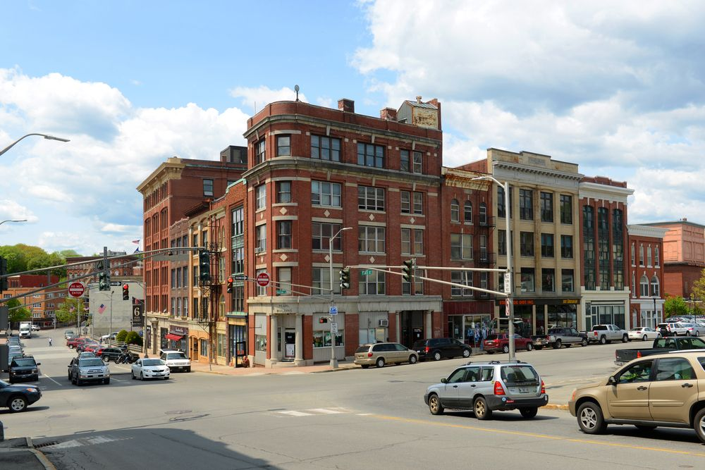 Historic blocks in Bangor