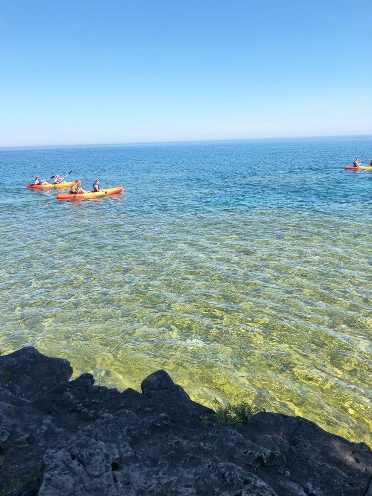 Kayaking in Sturgeon Bay