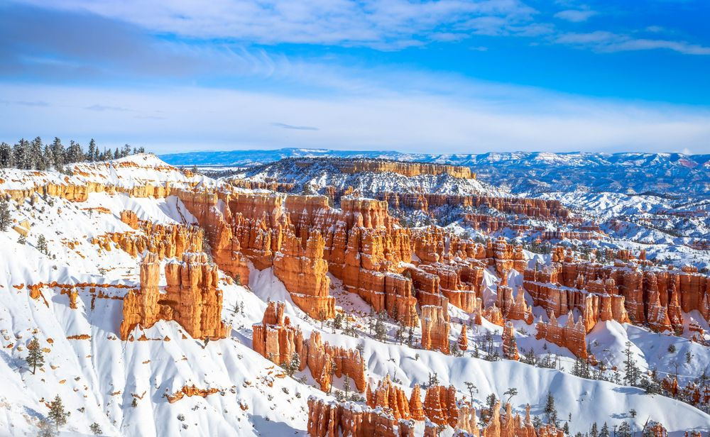 Bryce Canyon Park during winter