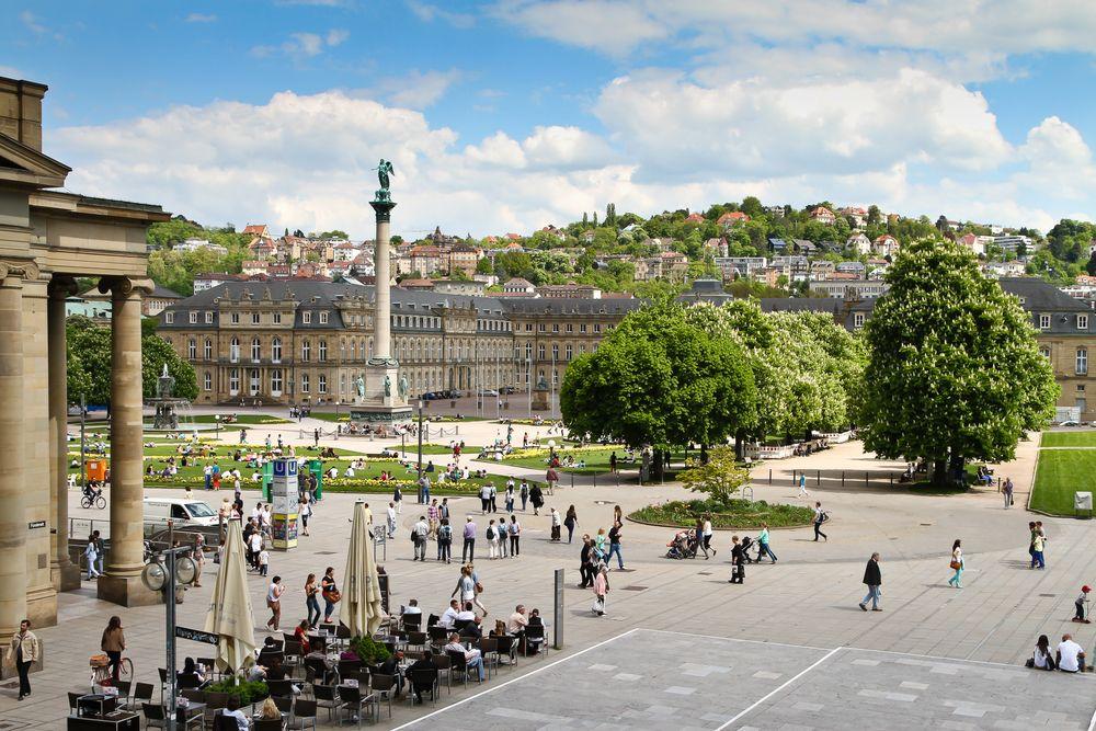 Schlossplatz Square in Stuttgart-Mitte