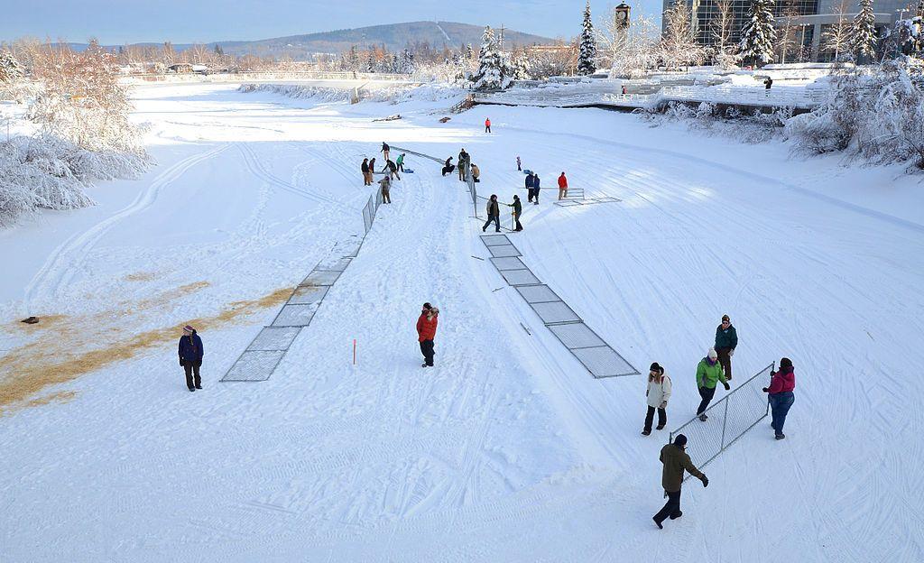 Yukon quest race in Fairbanks