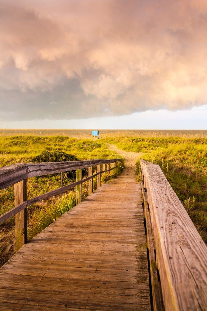 walkway to the beach at Tybee Island