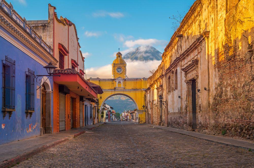 Main street in Antigua Guatemala