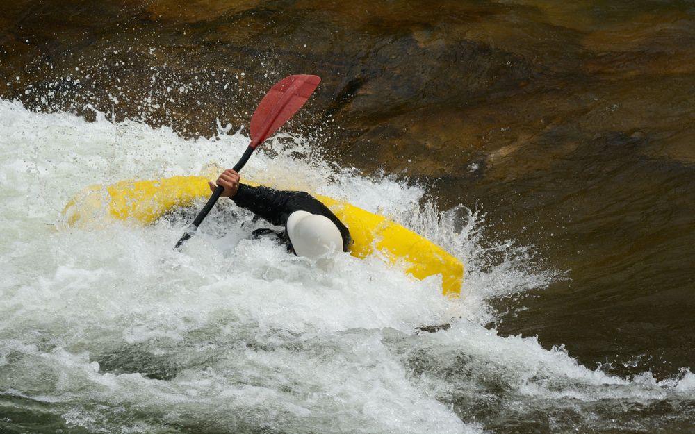 Kayaking at Clear Creek White Water Park