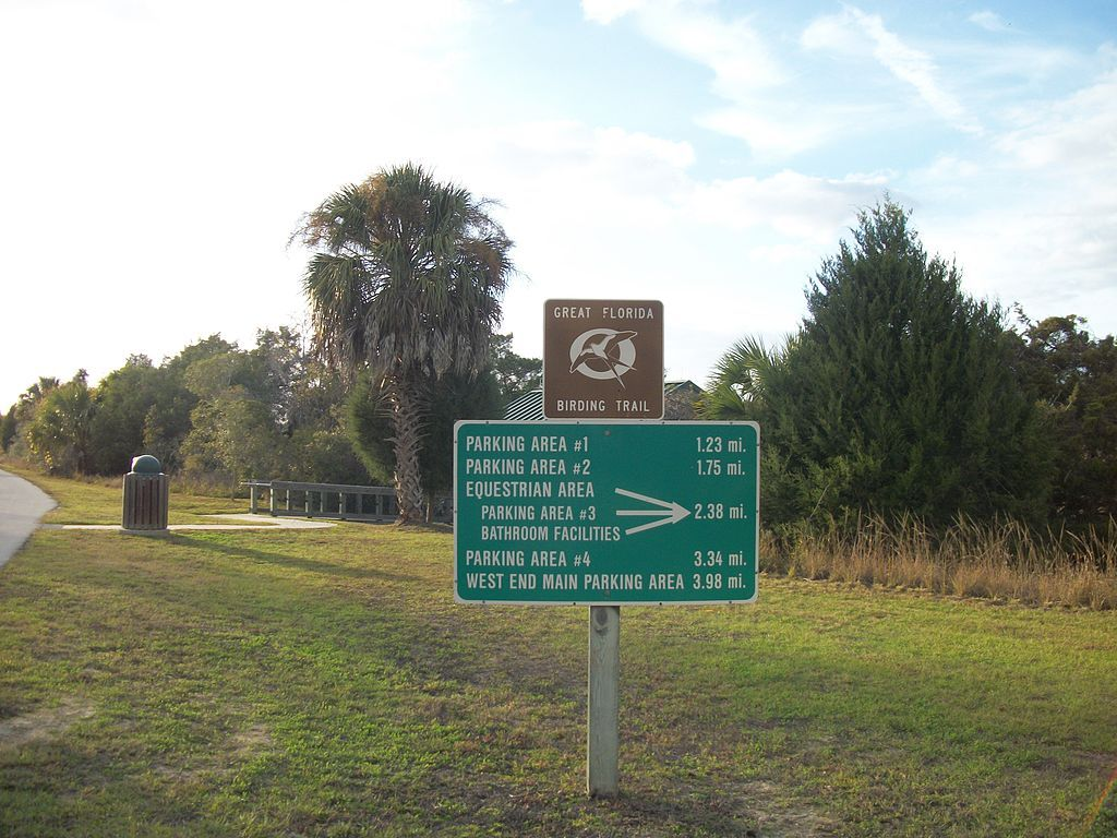 Withlacoochee Bay Trail sign