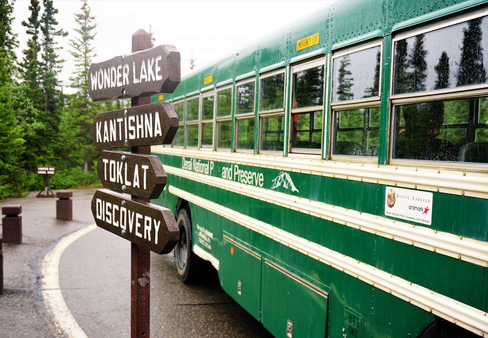 Bus in Denali National Park