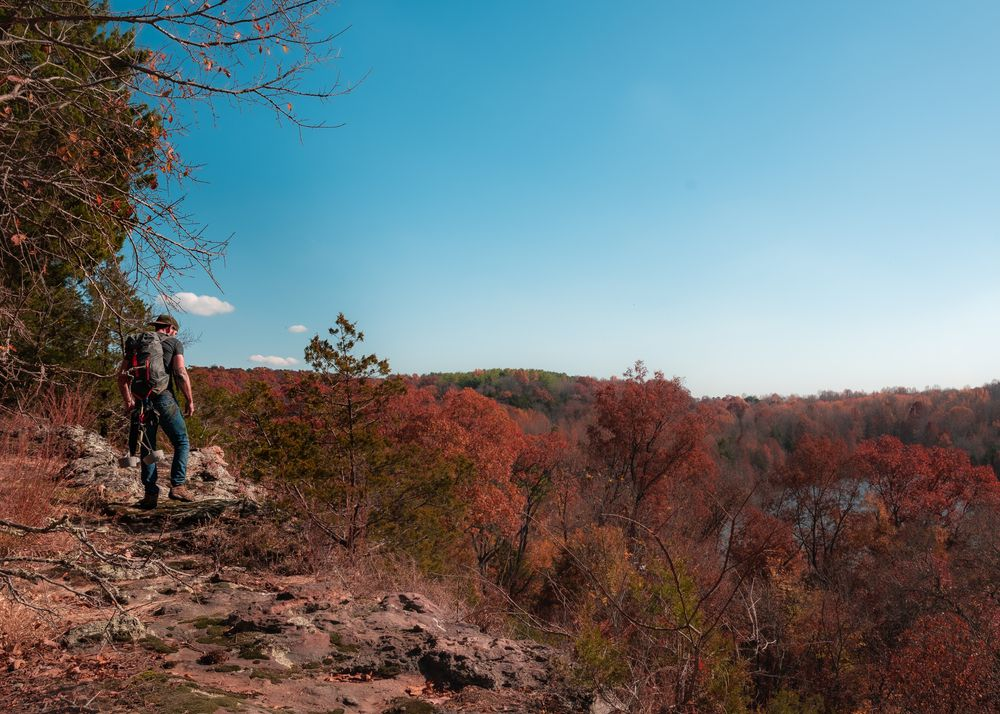Ferne Clyffe State Park in Fall