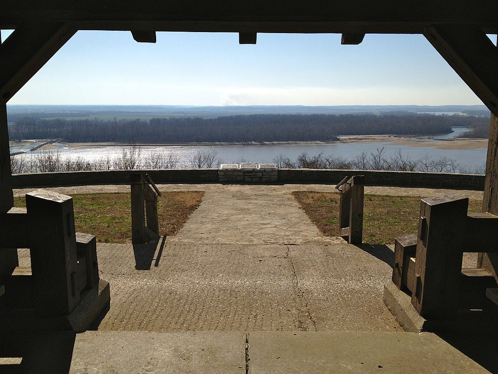 View of Mississippi River from Fort Kaskaskia