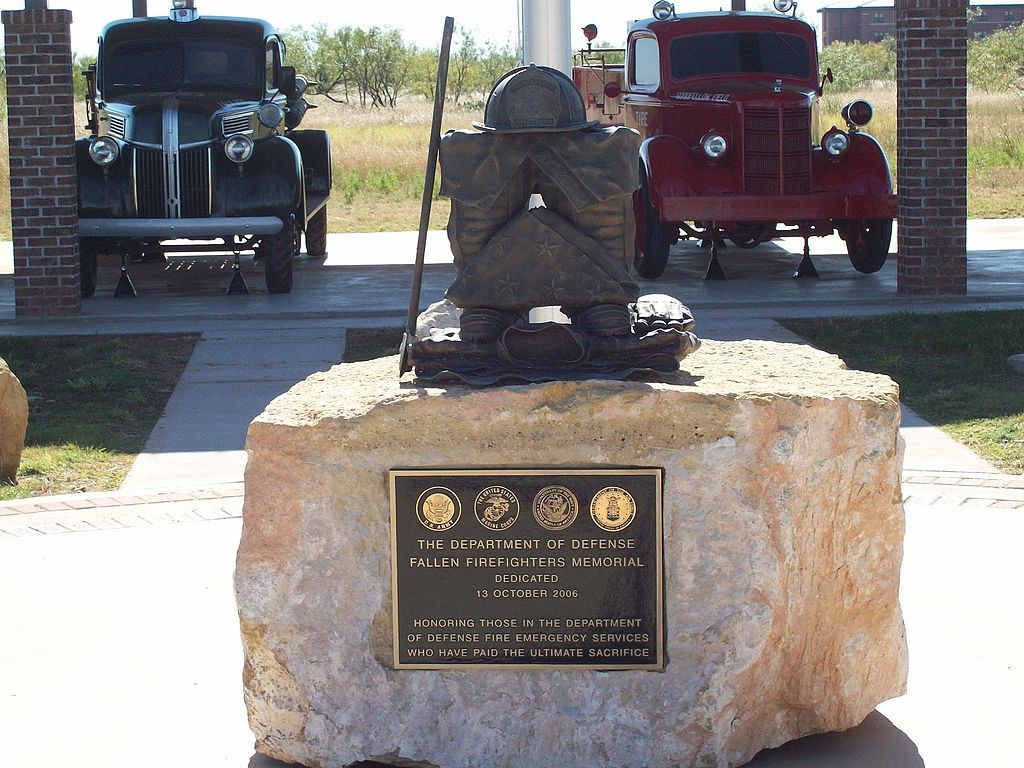 Firefighter Memorial at Goodfellow air force base