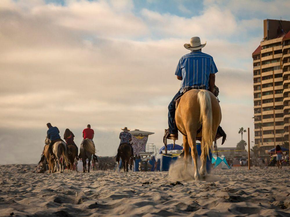 Horseback riding in Rosarito Beach