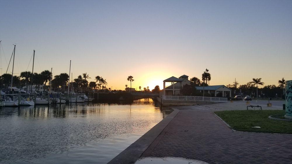Sunset over Manatee Observation Center