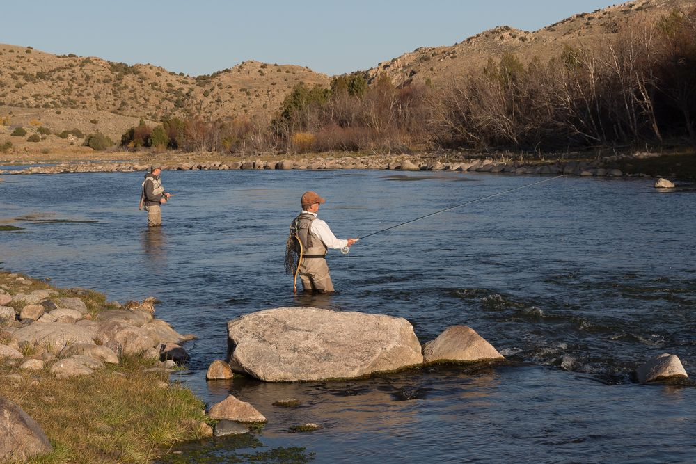 Fishing in North Platte River
