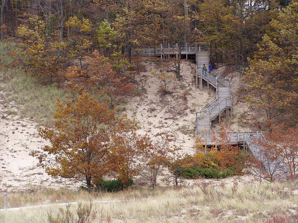 Stairway at Rosy Mound Natural Area