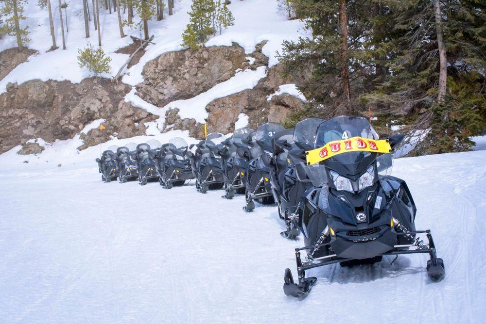 Snowmobile Ride in Yellowstone