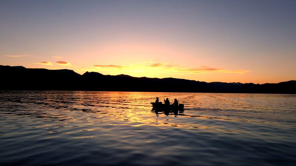 Sunset at Hebgen Lake