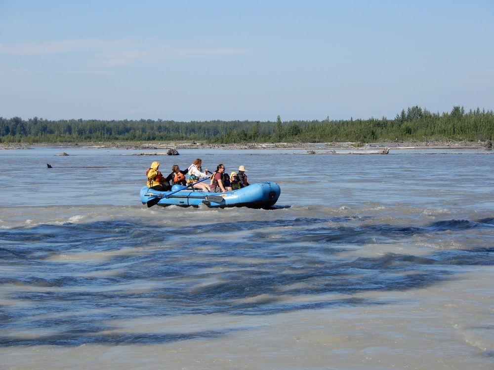 White water rafting in Talkeetna lake