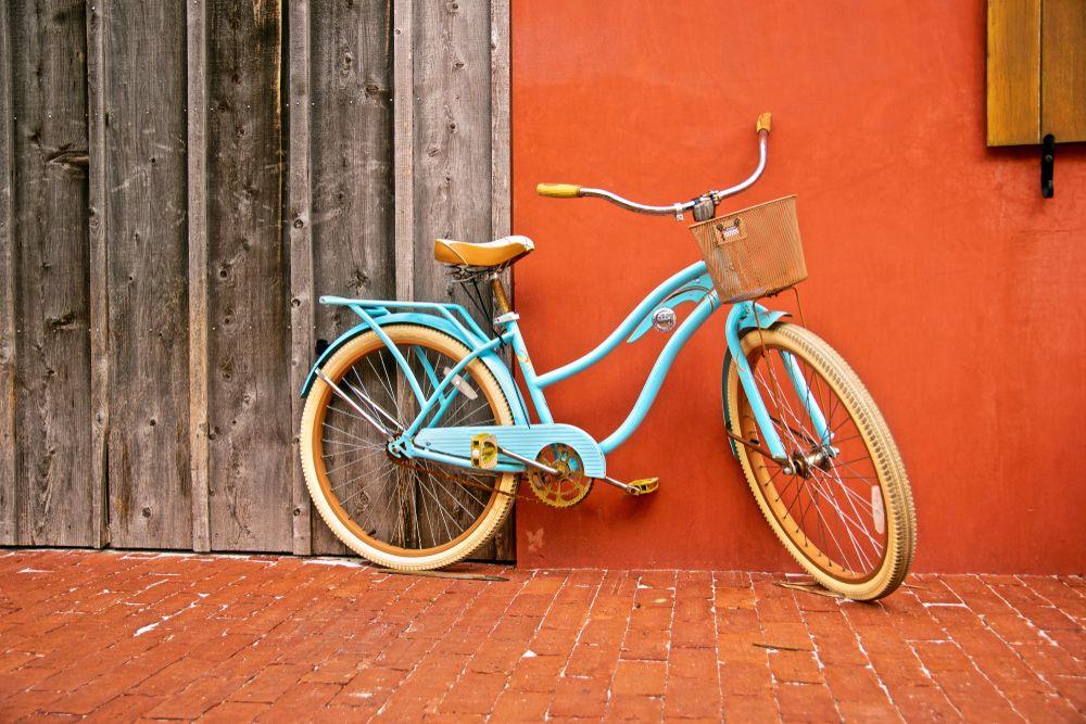 Bike resting in Rosemary beach
