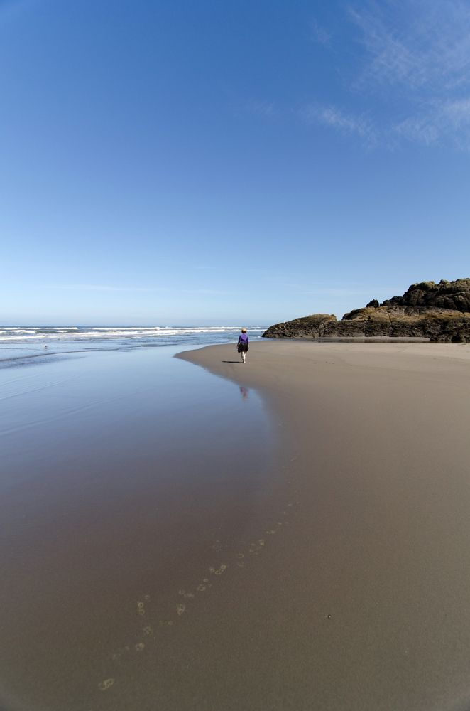 Hollow beach at Cape Disappointment State Park