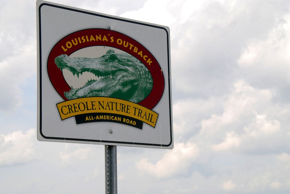 Creole Nature Trail Road sign