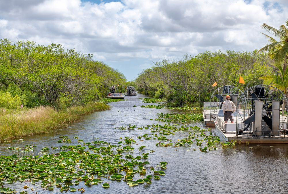 Airboat at Everglades National Park