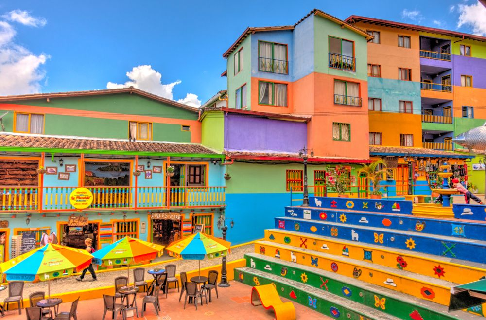 Colorful houses in Gautape