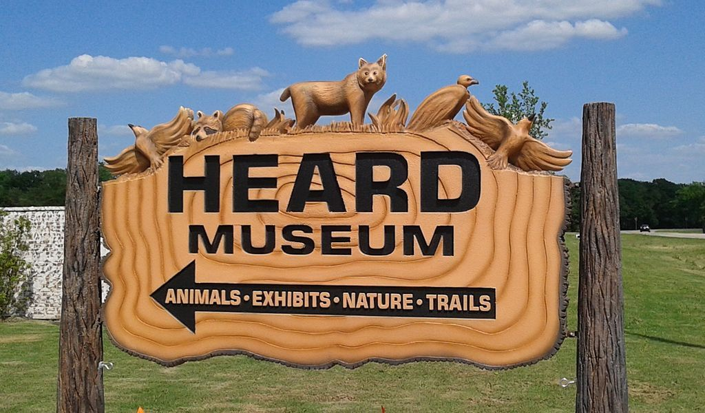 Outside Heard Natural Science Museum & Wildlife Sanctuary at Overland Park
