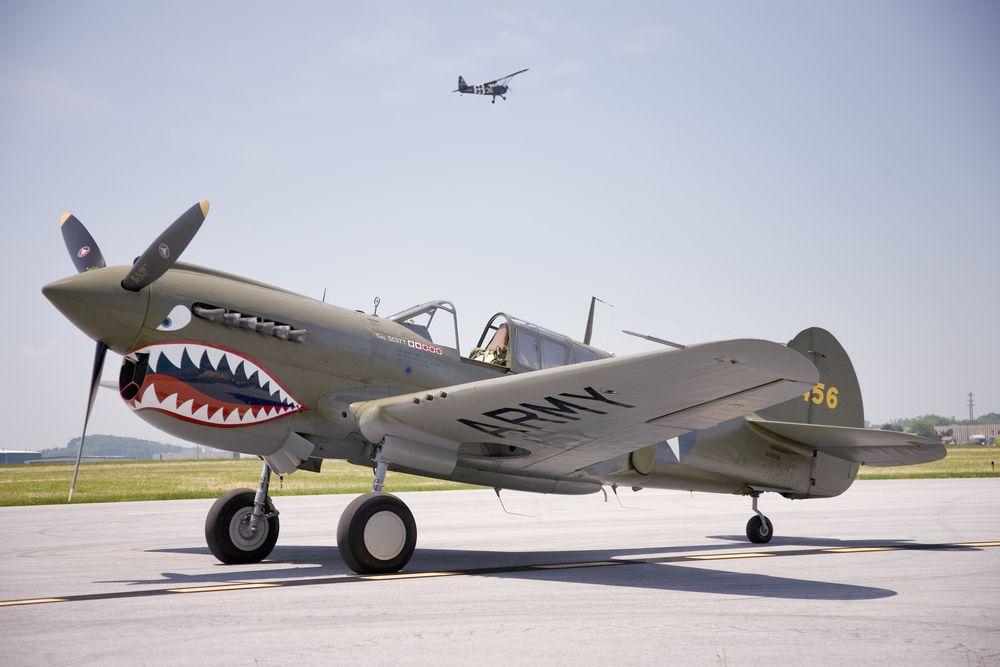 War hawk fighter plane at Mid-Atlantic Air Museum