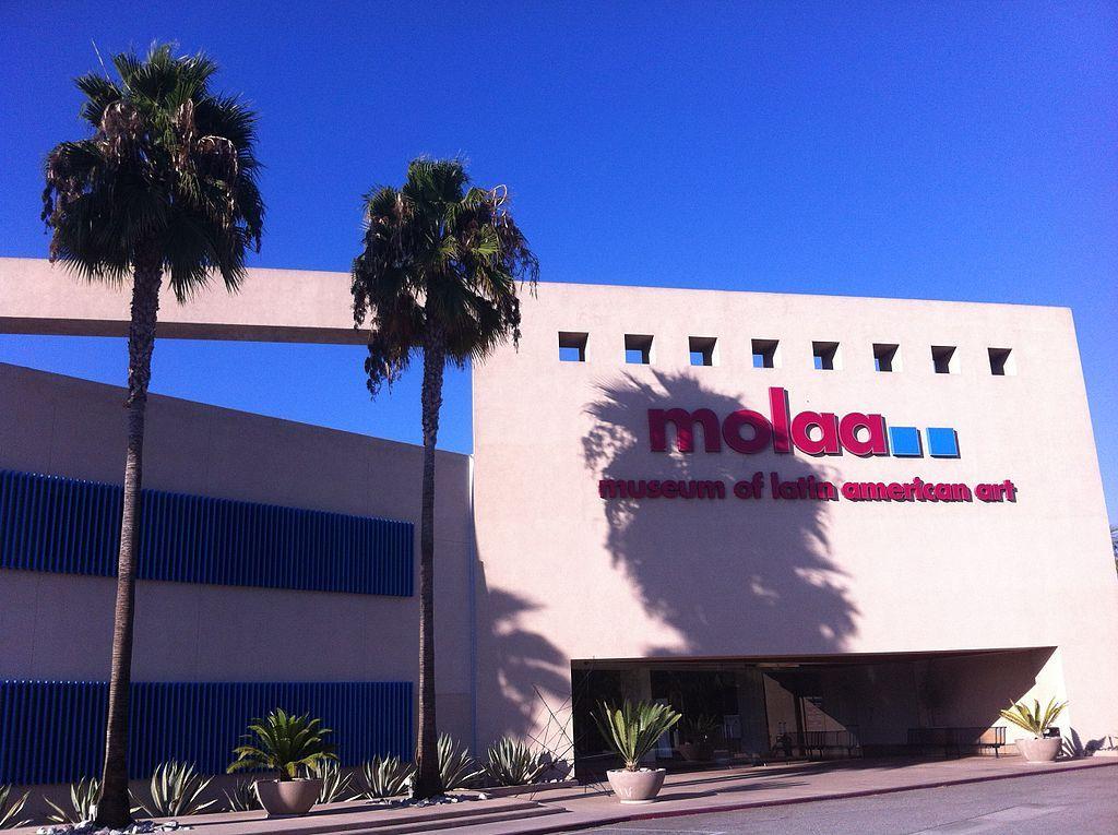 Outside the Museum of Latin American Art (MOLAA)