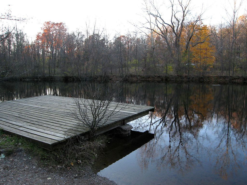 A pond in Nolde Forest Environmental Education Center
